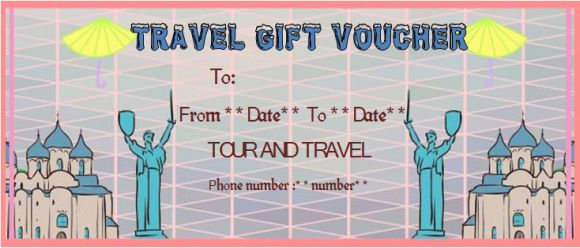 Travel gift vouchers templates