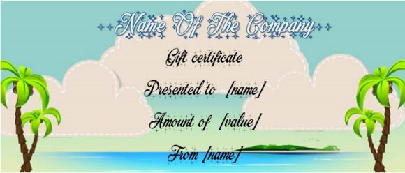 Trip gift certificate templates