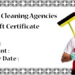 Cleaning gift certificate