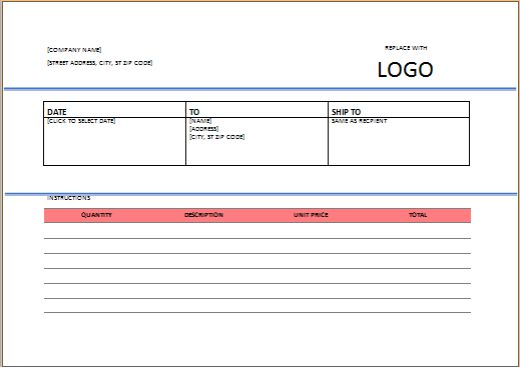 Contractor Invoice templates free