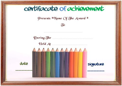 Drawing Art Competition Certificate