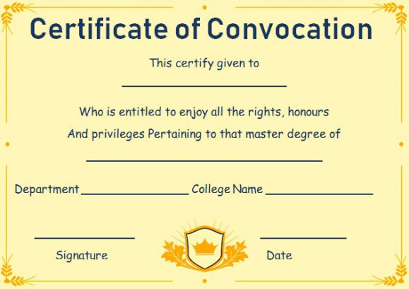 Free fake masters degree certificate templates