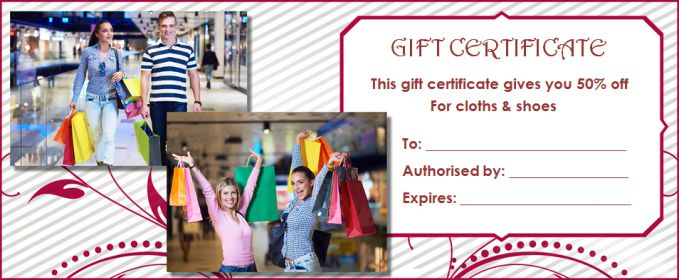 Gift Certificate clothes