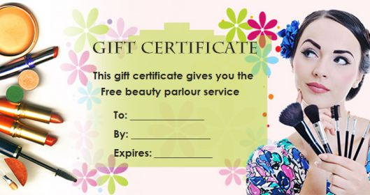 Gift Certificate parlor