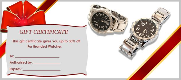 Gift Certificate watches