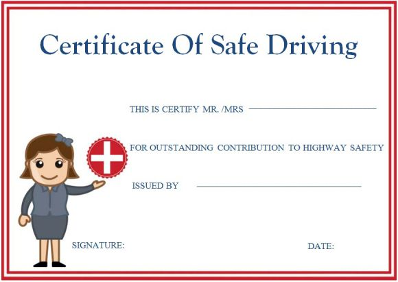 Safe Driving Certificates