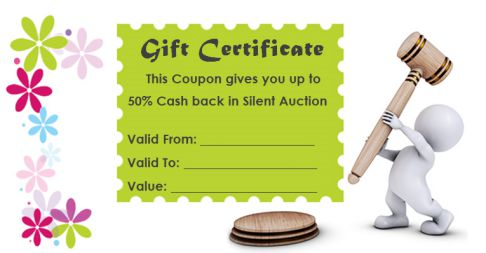 Silent Auction Gift Certificates