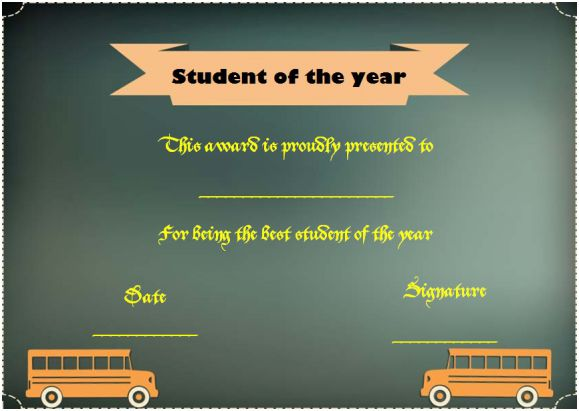 ace student of the year award