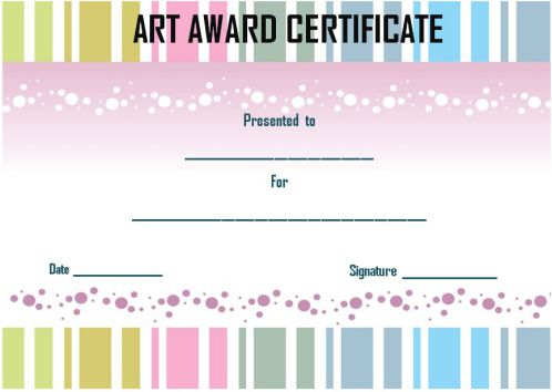Art Award For Students