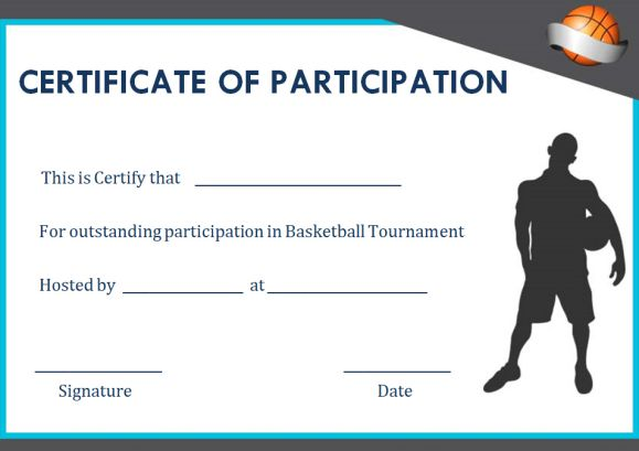 Basketball camp participation certificates sample