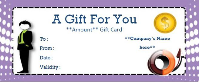 Business Gift Certificate Maker