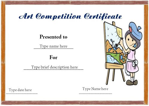 Certificate Format For Art Competition Winner