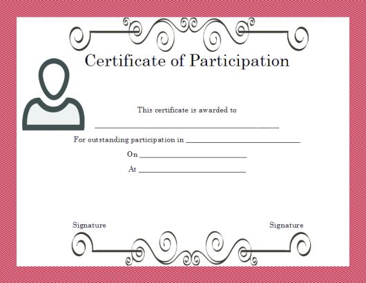Certificate of Partcipation Template