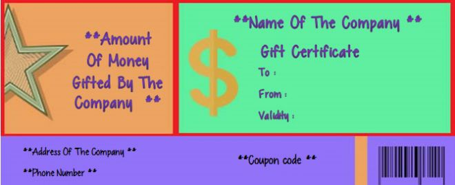 Free Gift Certificate Template For Business