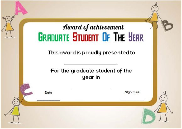 graduate student of the year award