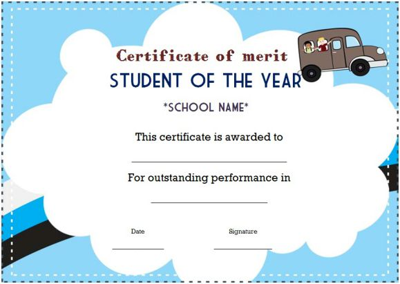 high school student of the year award