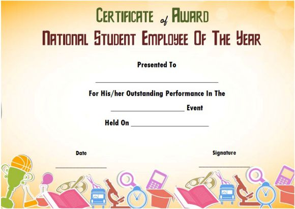 national student employee of the year award