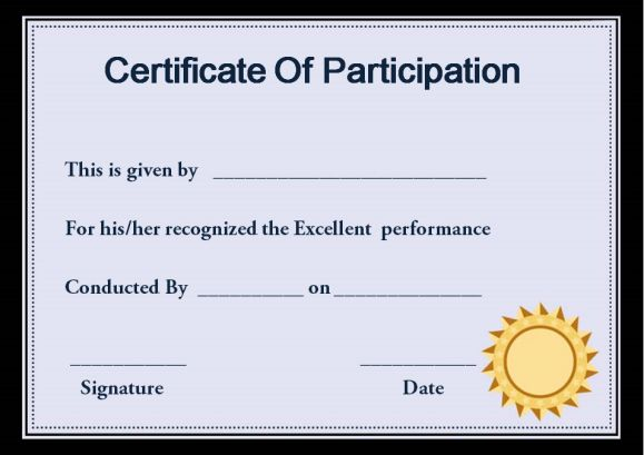 Sample Certificate Of Participation In Workshop Template