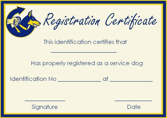Service Dog Papers Templates