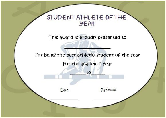 student athlete of the year award