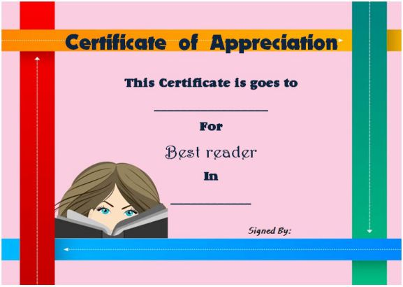 Thank you for reading certificate