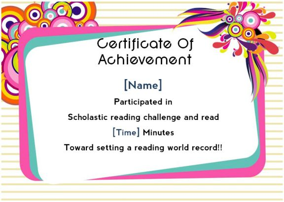 Scholastic Reading Count Awards 1
