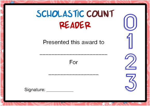 Scholastic Reading Counts Awards 1