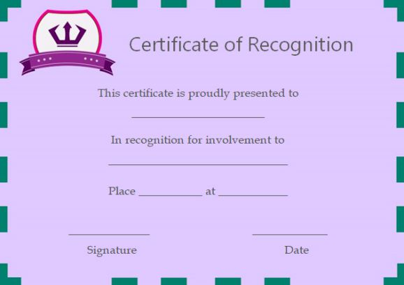certificate of recognition best in attendance