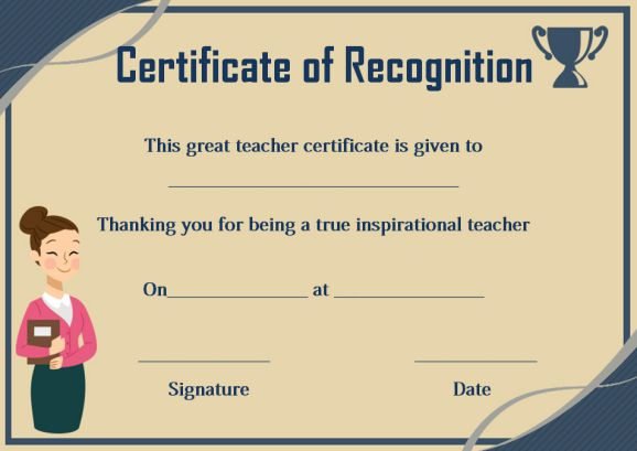 certificate of recognition for teachers