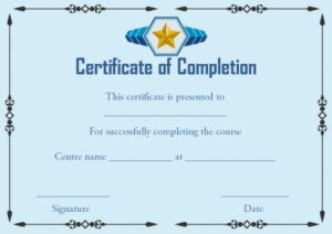 Certificate of Successful Completion Template