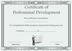 Professional Development Certificate of Completion Template