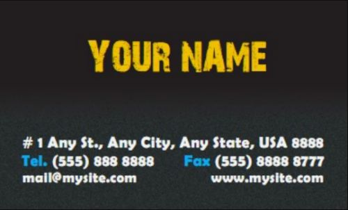 Black Granite Business Card