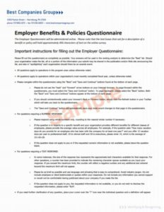 Employee Benefits and Policies