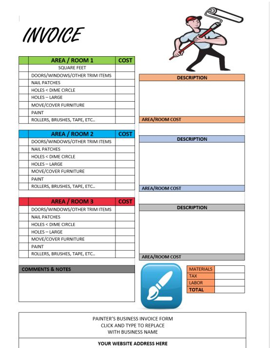 Free Painting Invoice Template