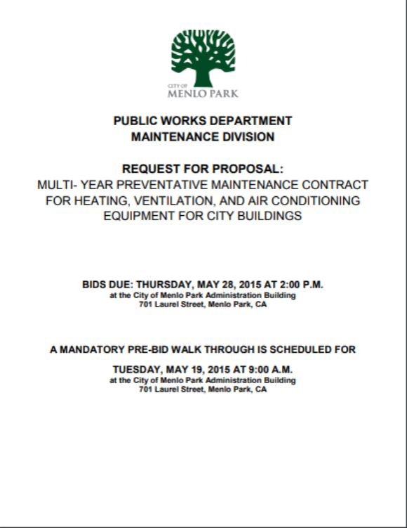 HVAC RFP Preventative Maintenance