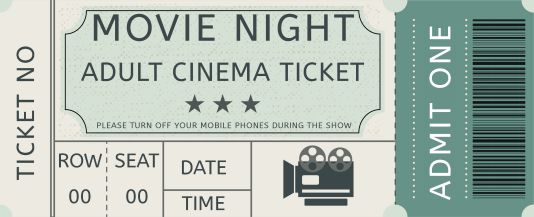 Movie Admission Ticket Template