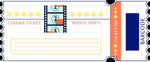 Movie Ticket Party Invitation Template