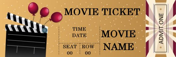 Movie Tickets Templates for Words