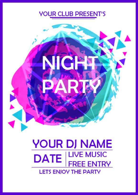 Night Party Coming Soon Flyer