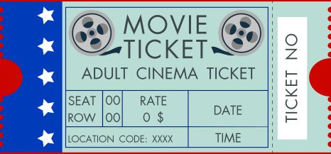 Old Fashioned Movie Ticket- Template