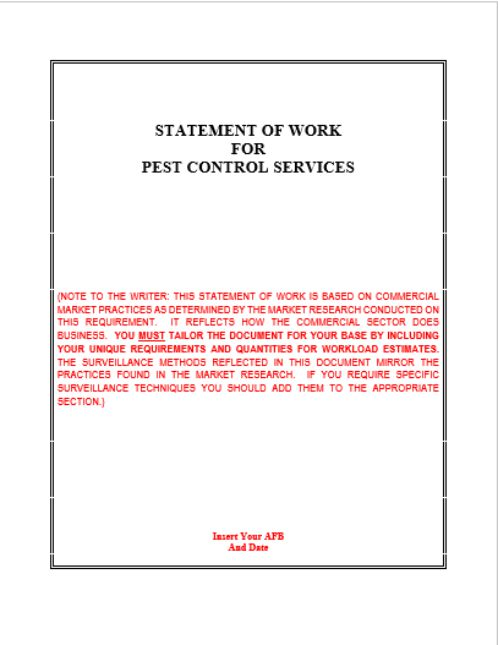 Pest Control SOW