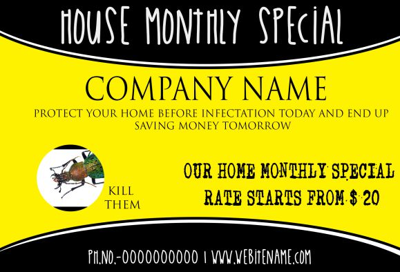 Pest Control Saving Money