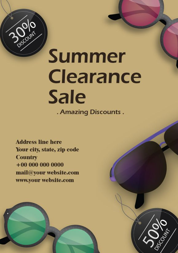Summer Clearance Coming Soon Flyer