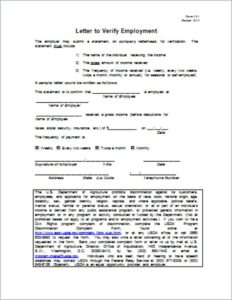 Verification Employment Document