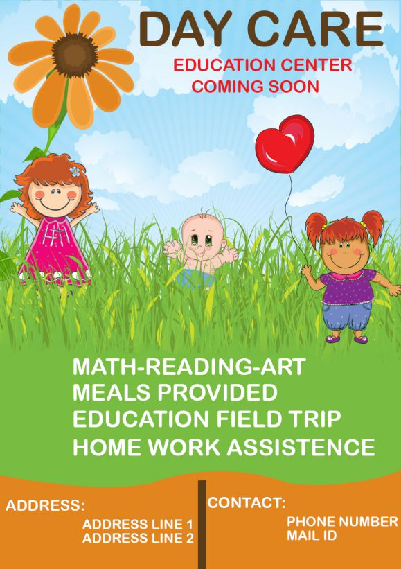 Daycare Coming Soon Flyer