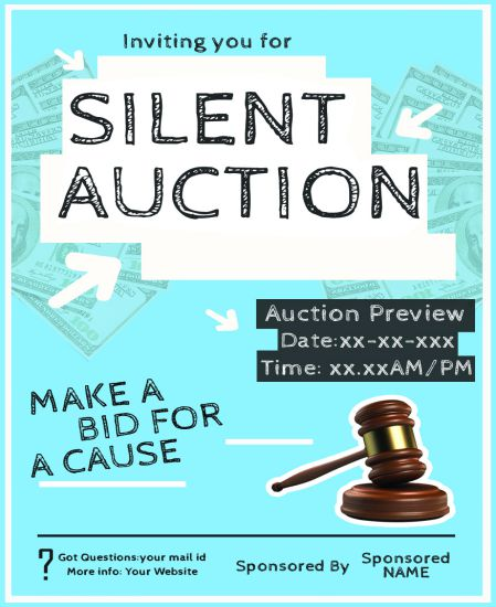 Silent Auction Donation Flyers